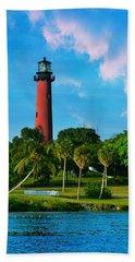 Jupiter Florida Lighthouse Beach Sheet