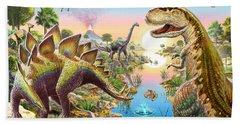 Jurassic River Beach Towel