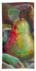 Just A Pear - Impressionist Still Life Beach Sheet