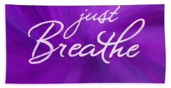 Just Breathe - Purple Beach Towel