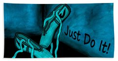 Just Do It - Blue Beach Towel