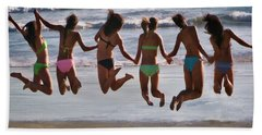 Beach Towel featuring the photograph Just Jump by Tammy Espino