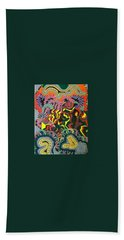 Beach Towel featuring the painting Just Look Two by Jonathon Hansen