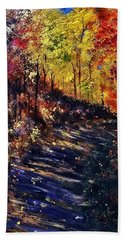 Just The Sound Of The Forest... Beach Towel