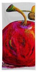 Kaleidoscope Apple -- Or -- Apple For The Teacher  Beach Sheet by Eloise Schneider