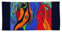 Kaleidoscope Eyes Beach Sheet by Alison Caltrider