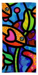 Kaleidoscope Reef Beach Towel