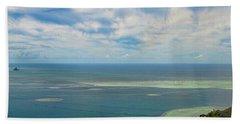 Kaneohe Sandbar Panorama Beach Towel