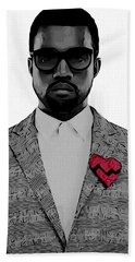 Kanye West  Beach Towel by Dan Sproul