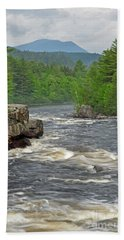 Katahdin And Penobscot River Beach Towel