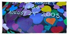 Katrina Casket Memorial Inscription Beach Towel