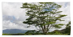Kauai Umbrella Tree Beach Towel