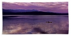 Beach Towel featuring the photograph Kayak On Dabob Bay by Greg Reed