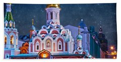 Kazan Cathedral. Red Square. Moscow Russia Beach Sheet