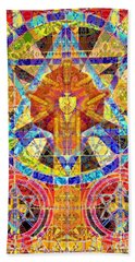 Keeper Of The Sacred Symbols Beach Towel by Joseph J Stevens