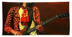 Keith Richards Painting Beach Towel