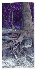 Kentucky Lake Roots Blue Beach Towel