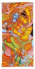 Kerala Fresco Mural Beach Sheet