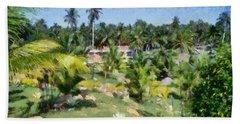 Kerala Landscape Beach Towel