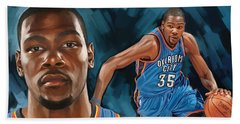 Kevin Durant Artwork Beach Towel by Sheraz A