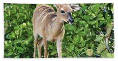 Key Deer Cuteness Beach Towel