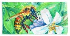 Key Lime Honeybee Beach Towel