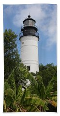 Key West Lighthouse  Beach Sheet by Christiane Schulze Art And Photography