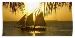 Key West Sunset Beach Sheet by Joan  Minchak