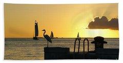 Beach Sheet featuring the photograph Key West Sunset by Olga Hamilton