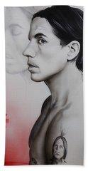 Anthony Kiedis - ' Kiedis Apache Soul ' Beach Towel by Christian Chapman Art