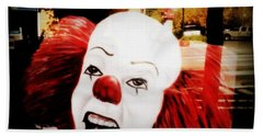 Killer Clowns On The Loose Beach Towel by Kelly Awad
