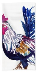 Beach Sheet featuring the painting Kilohana Rooster by Marionette Taboniar