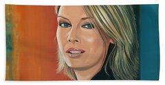 Kim Wilde Painting Beach Towel