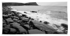 Kimmeridge Bay In Black And White Beach Sheet