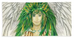 King Crai'riain Portrait Beach Sheet