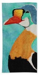 King Eider Beach Towel by Amy Gallagher