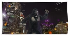 Beach Sheet featuring the photograph King Kong On Jefferson St In Detroit by Nicholas  Grunas