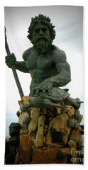 King Neptune Statue Beach Sheet