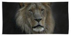 King Of Beasts Portrait Beach Towel
