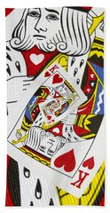 King Of Hearts Collage Beach Towel