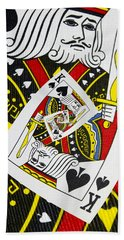 King Of Spades Collage Beach Towel