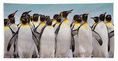 King Penguins Beach Towel