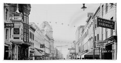 King Street In Charleston South Carolina Circa 1910 Beach Sheet