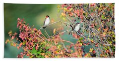 Kingbird Pair Beach Towel