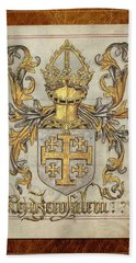 Kingdom Of Jerusalem Medieval Coat Of Arms  Beach Sheet