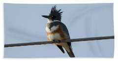 Kingfisher Profile Beach Towel by Mike Dawson