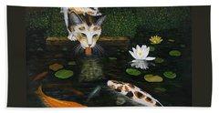 Beach Towel featuring the painting Kinship by Karen Zuk Rosenblatt