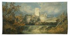Kirkstall Abbey, Yorkshire, 1797 Beach Towel