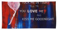 Kiss Me Goodnight Beach Towel by Andrea Anderegg