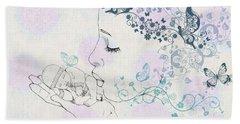 Kiss To A New Born Beach Towel by Barbara Orenya